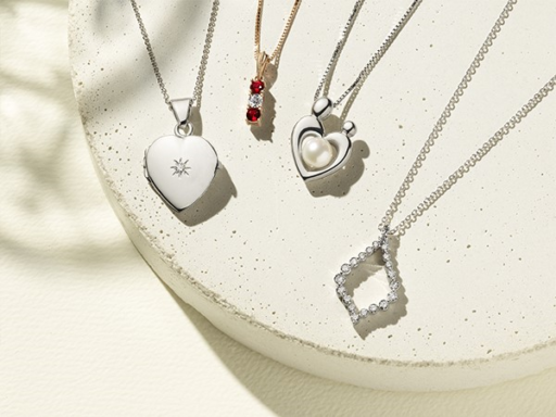 Collection of Necklaces: Locket, Family Collection, Mother & Child Collection, Diamond Necklace
