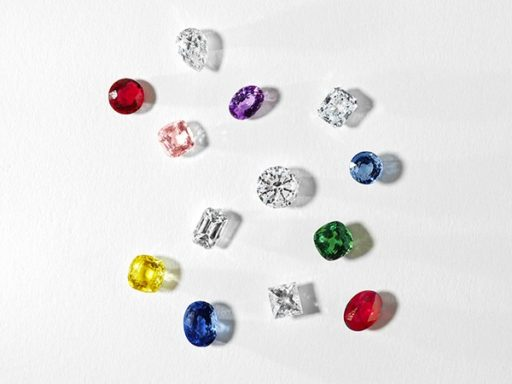 Loose diamonds and colored stones.